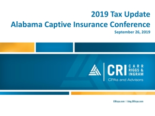 831b   CAPTIVE INSURANCE COMPANY PRESENTATION