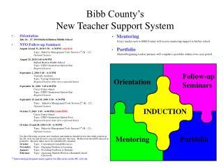 Bibb County's  New Teacher Support System