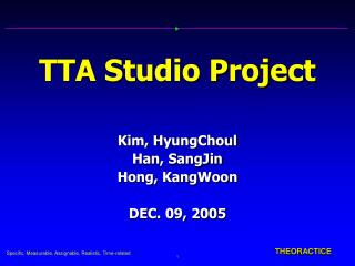TTA Studio Project