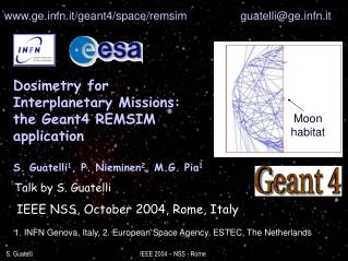 IEEE NSS, October 2004, Rome, Italy