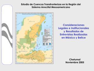 Estudio de Cuencas Transfronterizas en la Región del Sistema Arrecifal Mesoamericano