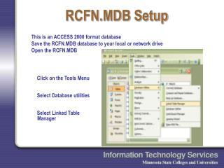 RCFN.MDB Setup