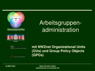 Arbeitsgruppen-administration