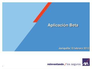 Aplicación Beta