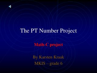 The PT Number Project