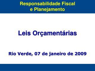 Responsabilidade Fiscal e Planejamento