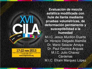 M.I.C. Jesús  Murillón  Duarte Dr.  Horacio  Delgado  Alamilla Dr. Mario Salazar Amaya