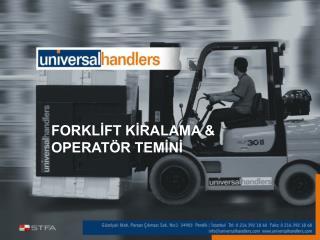 FORKLİFT KİRALAMA & OPERATÖR TEMİNİ