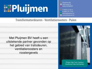 Philips High Tech Campus Eindhoven Inbo Architecten
