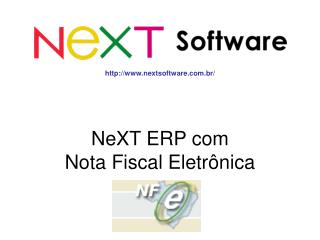 NeXT ERP com  Nota Fiscal Eletrônica