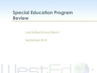 Lodi Unified School District September 2013