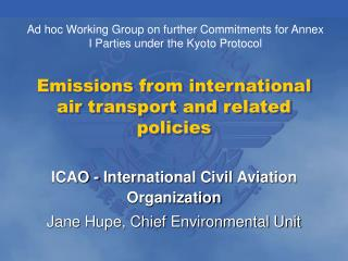 Emissions from international air transport and related policies