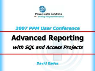 Advanced Reporting with SQL and Access Projects