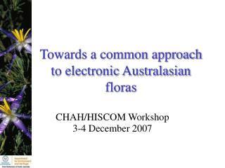 Towards a common approach to electronic Australasian floras