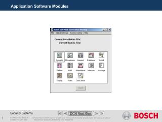 Application Software Modules