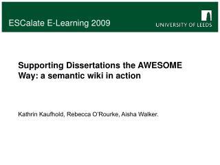 ESCalate E-Learning 2009