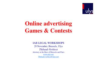 Online advertising  Games & Contests