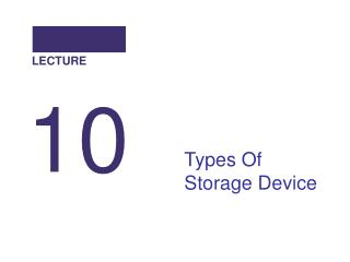 Types Of Storage Device