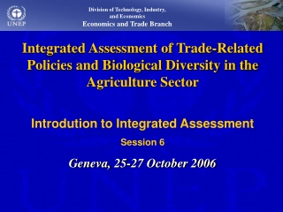 Division of Technology, Industry and Economics United Nations  Environment Programme