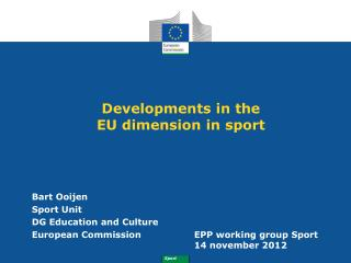 Developments in the   EU dimension in sport
