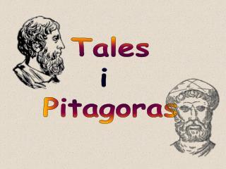 Tales i  Pitagoras