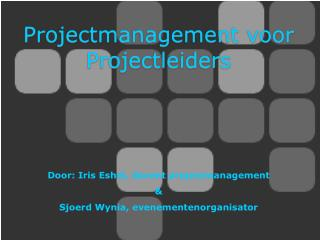 Projectmanagement voor Projectleiders