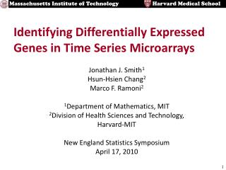 Identifying Differentially Expressed Genes in Time Series Microarrays