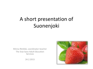 SHORT PRESENTATION OF