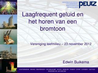 Vereniging leefmilieu – 23 november 2012