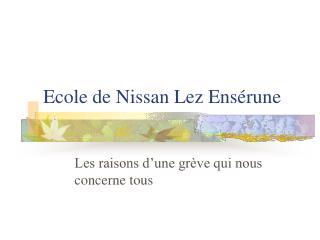 Ecole de Nissan Lez Ensérune