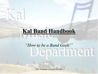 Kal Band Handbook