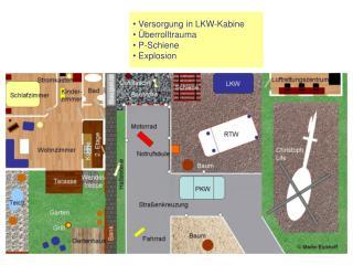 Versorgung in LKW-Kabine  Überrolltrauma  P-Schiene  Explosion