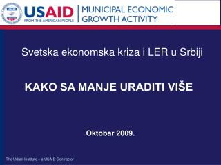 Svetska ekonomska kri za i LER u Srbiji