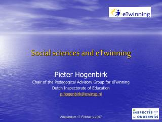 Social sciences and eTwinning