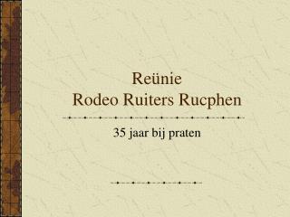 Re�nie Rodeo Ruiters Rucphen
