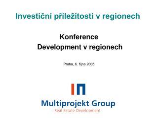 Investiční příležitosti v regionech