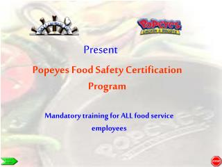 Popeyes Food Safety Certification Program
