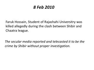 8  Feb 2010