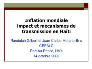 Inflation mondiale impact et m�canismes de transmission en Ha�ti