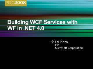 Building WCF Services with WF in  4.0