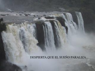 DESPIERTA,QUE EL SUE�O PARALIZA...