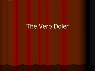 The Verb  Doler
