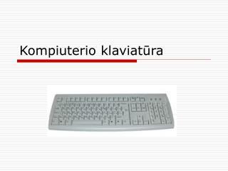 Kompiuterio klaviatūra