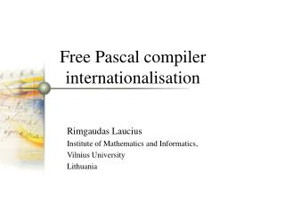 Free Pascal compiler internationalisation