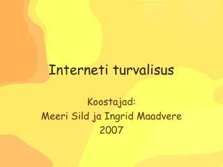 Interneti turvalisus