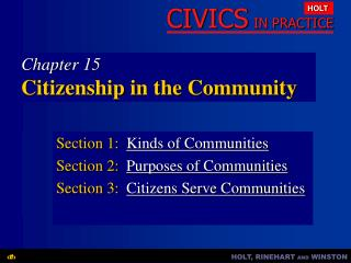 Chapter 15 Citizenship in the Community