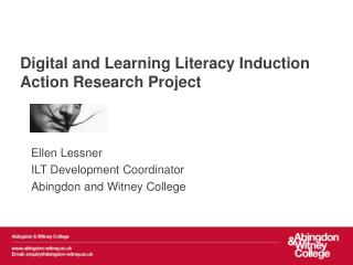 Digital and Learning Literacy Induction Action Research Project
