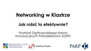 Networking  w Klastrze Jak robić to efektywnie ?