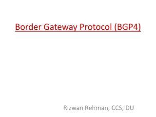 Border Gateway Protocol (BGP4)