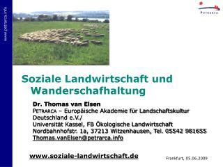 Soziale Landwirtschaft und Wanderschafhaltung